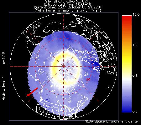 La predicción del satélite