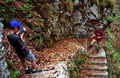 Walking in the mountain (photoriel) Tags: summer people mountain nature kids walking landscape switzerland rocks europe child jura neuchâtel juraneuchâtelois