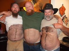 Ron, Drew & John (BentWright) Tags: bear hairy john fur beard ginger furry drew ron belly tjsbirthday