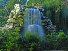 Tropical Waterfall in DC (Tom O'Neill) Tags: blue white halloween water night landscape zoo waterfall dc long exposure national silky naturesfinest