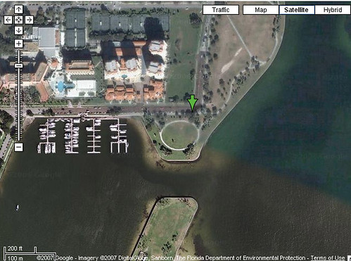 Satellite view of Vinoy Park