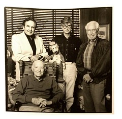 The Masters (Old and Young): Joe Barbera, John Kricfalusi, Jim Hanna, (seated) Friz Freleng