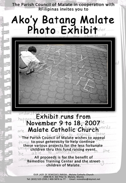Ako'y Batang Malate Photo Exhibit