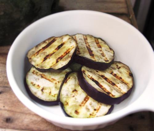 Eggplants after grilling