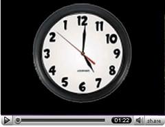 tiempo en el vídeo