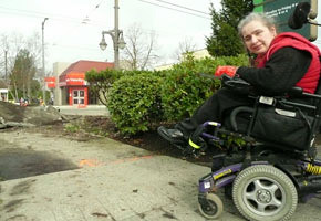 Lori Kemp, Point Grey resident, at West Broadway and Waterloo Street.