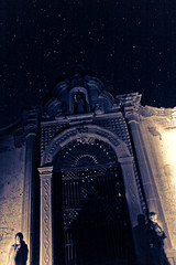 There are still Stars in the Sky (Luis Montemayor) Tags: graveyard night stars mexico noche cementerio explore estrellas cementery realdecatorce sanluispotosi dflickr dflickr180307