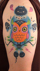 owl-tat 1 (TADO DEATH BRIGADE) Tags: orange tattoo patrick owl tado owlmovement