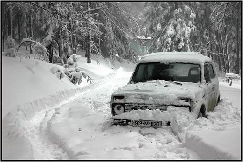 Sne og biler