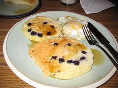Smiley blueberry pancakes