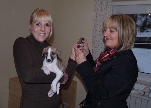 Pia und Gabi mit ihrem Anpu