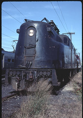 Unbroken, Unbowed (GG1 #4872 at South Amboy, 1983) (brooklynparrot) Tags: pennsylvania trains locomotives railroads gg1 prr newjerseytransit