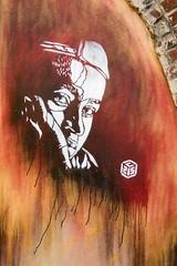 C215 - Rue de Thionville 19e (un oeil qui trane) Tags: street urban streetart paris france art collage print poster stencil paint peinture affichage carf 75 arrondissement affiche graffitis everton affiches childrenatriskfoundation c215 19