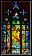 Alfons Mucha window (FotoBob#) Tags: window prague praha canoneos350d  stvituscathedral praguecastle  alfonsmucha stainedglas  mywinners abigfave platinumphoto aplusphoto canonef203528l