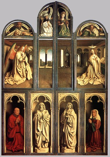 Jan van Eyck, Ghent Altarpiece, closed, 1432 by arthistory390