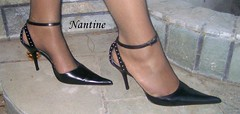 Giuseppe Di Dato (Kwnstantina) Tags: feet leather highheels fishnet heels nylon giuseppe blackpumps strapgiuseppedidato