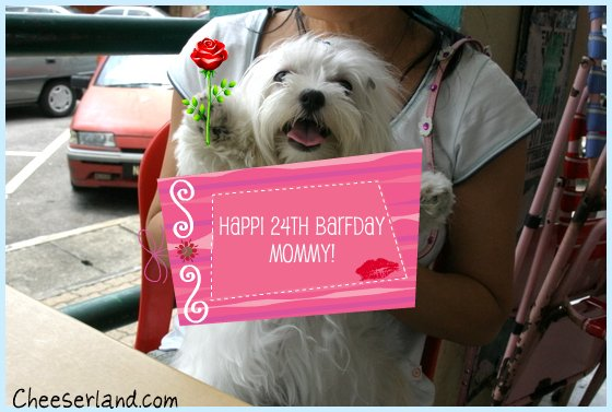 Happi barfday mommi - from cheddie
