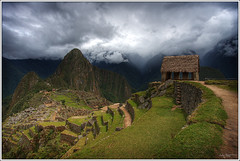 Hut (Kaj Bjurman) Tags: sky mountains peru grass rain machu picchu inca clouds canon eos photo raw image picture inka 2008 hdr kaj cs3 photomatic 40d bjurman