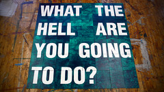 What The Hell Are You Going To Do? (Alienate) Tags: art painting typography design do you text hell going what gutter