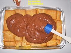 Tarta de galletas-añadir choco+
