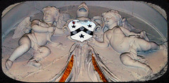 the bearers of arms (annette62) Tags: memorial arms cathedral helmet shield cherubs ripon putti