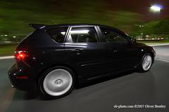 2007 Mazdaspeed 3 (OB-PHOTO.COM) Tags: black cars canon turbo mazda automobiles hatchback 30d mazdaspeed3 blackmica speed3