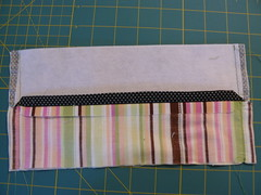 Sew Casing to Flannel