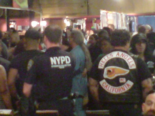 NYPD and Hell's Angels shoulder to shoulder by Needles and Sins (formerly