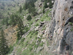 Wall of the 90s - Left Side of Crag