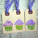 purple cupcake tag