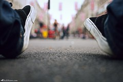 Sitting on Regent Street (Rick Nunn) Tags: street london self shoes dof bokeh rick flags vans nunn brutal ef50mmf14usm