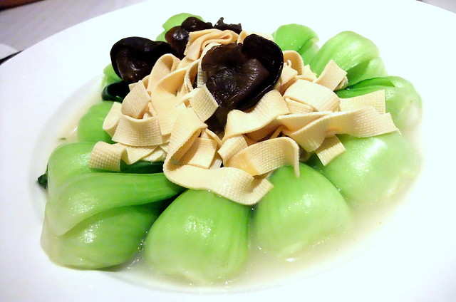 Bok Choy with Beancurd Sheets