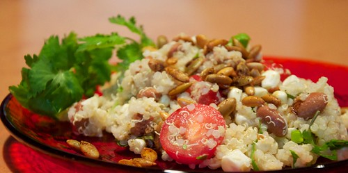 South American quinoa salad