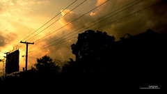 : flaming silhouette (Lakad Pilipinas) Tags: street sky orange silhouette asia afternoon philippines powerlines southeast luzon cabanatuan nuevaecija canonpowershots3is audioscience sangoyo buliran christianlucassangoyo