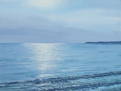 Gegenlicht (dirkgue) Tags: see meer himmel wolken ufer landschaft sonne danmark nordsee ostsee spiegelung acryl küste gegenlicht wellen malerei norddeutschland brandung leinwand gemälde realismus realistisch dirkgünther