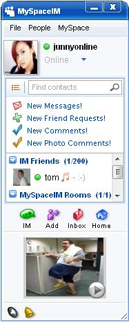 Screenshot of MySpaceIM