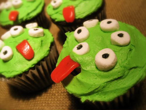 Many Eyed Monster Cupcakes