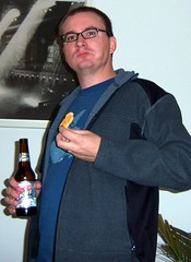 Kevin with a Beer and a Cookie