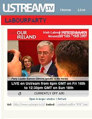 Labour on UStream