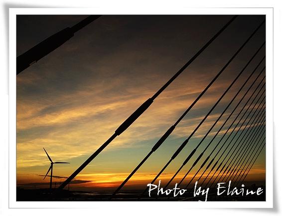 夕陽與鹽水陸橋