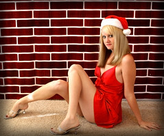Day 191: Santa Baby (Gods Emerald - With Love Photography) Tags: santa red brick explore santahat pinup yowza 365days diamondcalss hotsanta theresamcmanus