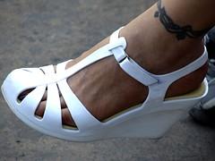 Foot on heels