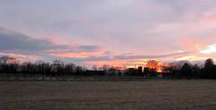 Burning Sunset (John Stenberg) Tags: sunset sun silo mywinner
