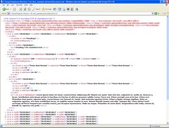 Screenshot of the xml in a docx file