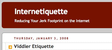 Internetiquette: Viddler Etiquette