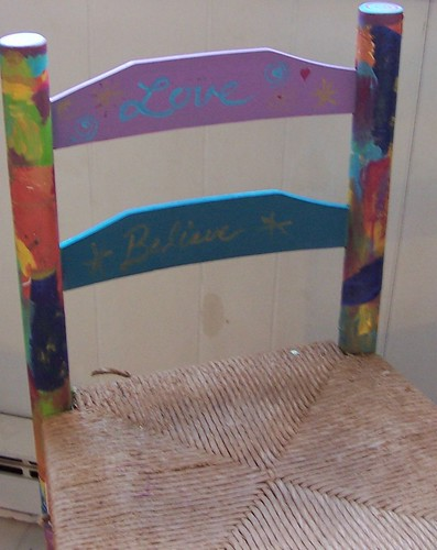 Front of Collaged Stool