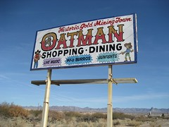 The historic gold mining town of Oatman, AZ. (12/23/07)