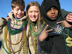 Mardi Gras parade in Slidell, Louisiana, USA
