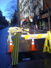 Construction in the East Village of New York City