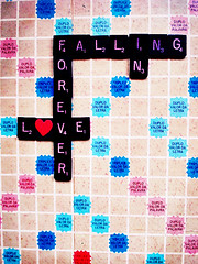 We Are Forever Falling in Love (AnnuskA  - AnnA Theodora) Tags: old love vintage bravo heart amor board letters valentine scrabble pastafarian crosswords inspiredby magicdonkey churchoftheflyingspaghettimonster 3000v120f lyublyu foreverfallinginlove notfallinginloveforever